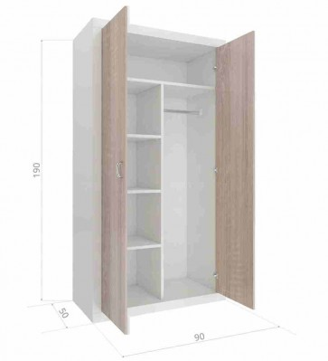 Kétajtós szekrény sonoma tölgy - Filip