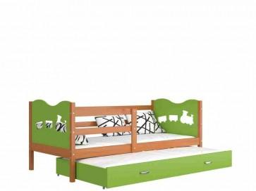 Éger / zöld gyerekágy gyerekszobába pótággyal - Max P2.