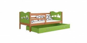 Éger / zöld gyerekágy gyerekszobába ágyneműtartóval - Max P.