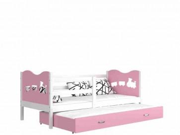 Fehér / rózsaszín gyerekágy gyerekszobába pótággyal - Max P2.