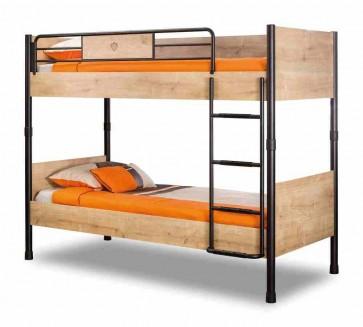 Emeletes ágy gyerekszobába (90x200) – Mocha