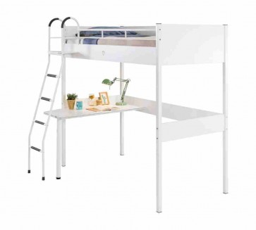 Fehér bővíthető galériaágy íróasztallal (90x190) - White