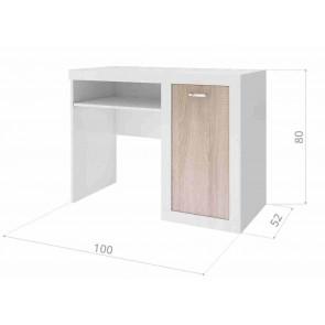 Sonoma tölgy íróasztal gyerekszobába (10 féle mintával) - Filip