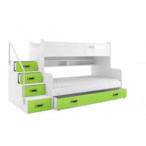 Emeleteságy gyerekeknek zöld színben - Midi 3