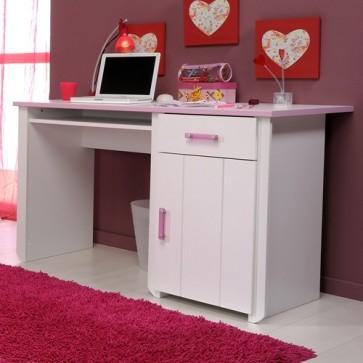Íróasztal gyerek és ifjúsági szobába (fehér-rózsaszín) - Parisot Biotiful
