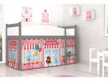 Grafit - fehér galériaágy (Mod-2.2 - Candy Shop) TWIST ANTRESOLA