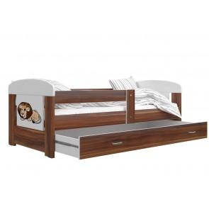 Havanna barna gyerekágy ágyneműtartóval, oroszlán minta