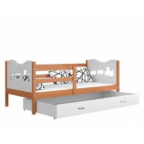 Éger / fehér gyerekágy gyerekszobába ágyneműtartóval - Max P.