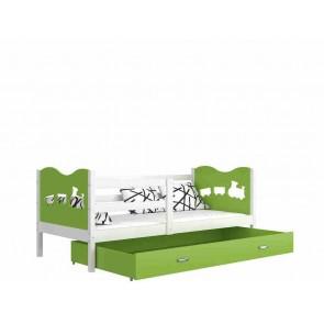 Fehér gyerekágy gyerekszobába ágyneműtartóval (5 dekorszínnel, 90x200) - Max P. MDF