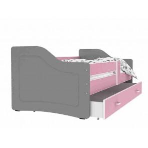 Szürke / rózsaszín kanapé gyerekszobába – Sweety