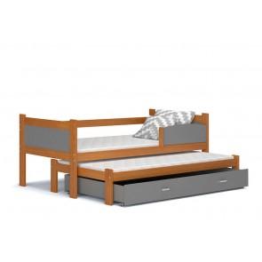 Éger gyerekágy és pótágy, ágyneműtartóval (80x184) - ajándék matraccal – Twist P2