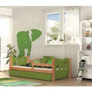 Éger gyerekágy és ágyneműtartó (80x160, 6 színben) – ajándék matraccal – Miklós