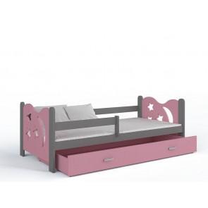 Grafit gyerekágy és ágyneműtartó (80x160, 6 színben) – ajándék matraccal – Miklós