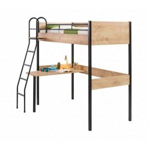 Bővíthető galériaágy íróasztallal (90x190) – Mocha