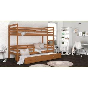 Háromszemélyes emeletes ágy, éger-éger JACK 3
