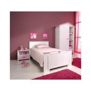 Gyerekágy, ifjúsági ágy 90X190 (fehér-rózsaszín) -Pariston Biotiful