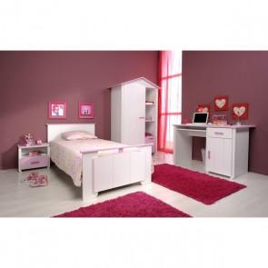 Gyerekágy, ifjúsági ágy 90X200 (fehér-rózsaszín) -Pariston Biotiful
