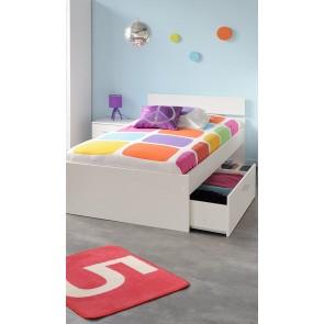 Gyerekágy ágyneműtartóval (90X200) – fehér – Parisot Infinity